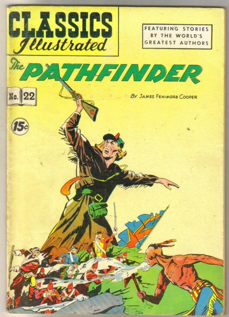 Classic Illustrated #22 hrn#118 Pathfinder by James Fenimore Cooper comic book fine/very fine 7.0