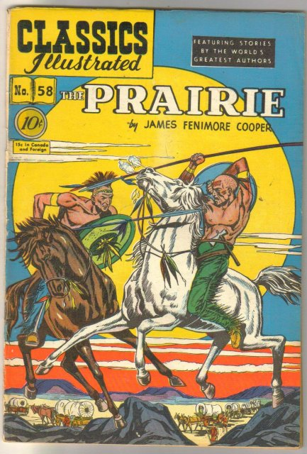 Classic Illustrated #58 hrn#60 The Prairie by James Fenimore Cooper comic book fine/very fine 7.0