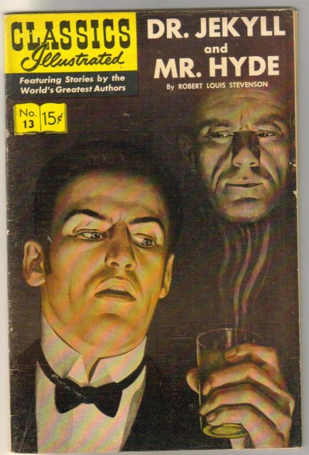Classic Illustrated #13 hrn#161 Dr. Jekyll and Mr. Hyde by Robert Louis Stevenson comic book very fine 8.0