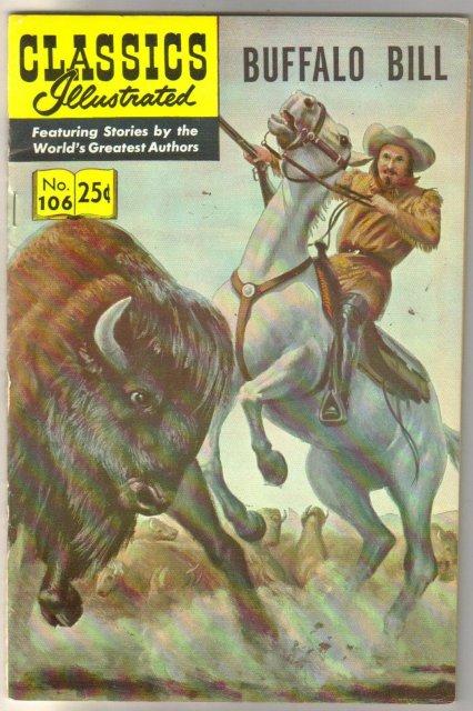 Classic Illustrated #106 hrn#169 Buffalo Bill  comic book very fine/near mint 9.0