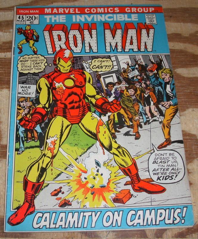 Iron Man 45 vg/fn 5.0