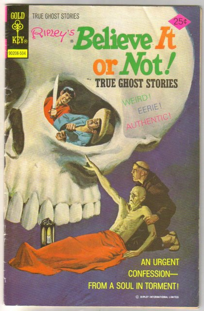 Ripley's Believe it or Not #53 True Ghost Stories comic book very good/fine 5.0