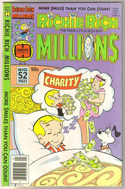 Richie Rich Millions #92 comic book fine/very fine 7.0