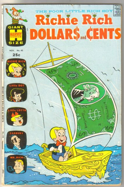 Richie Rich Dollars and Cents #45 comic book very good/fine 5.0