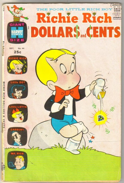 Richie Rich Dollars and Cents #44 comic book very good/fine 5.0
