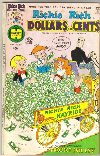 Richie Rich Dollars and Cents #80 comic book fine 6.0