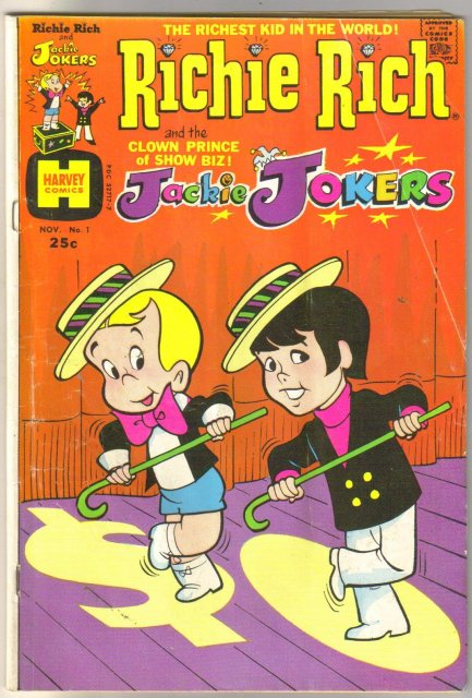 Richie Rich and Jackie Jokers #1 comic book very good 4.0