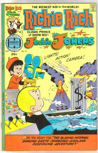 Richie Rich and Jackie Jokers #16  comic book fine 6.0