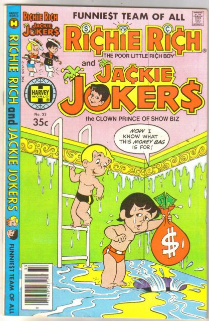 Richie Rich and Jackie Jokers #33  comic book very fine 8.0