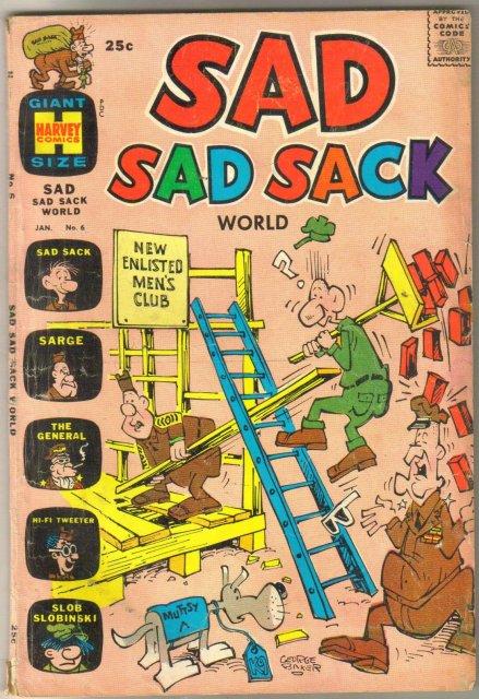 Sad Sad Sack #6 comic book very good 4.0