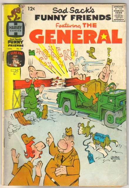 Sad Sack's Funny Friends #67 featuring the General comic book very good 4.0