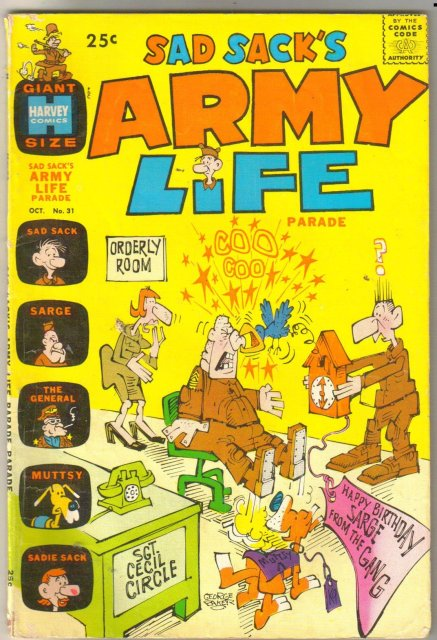 Sad Sack's Army Life #31 comic book very good/fine 5.0