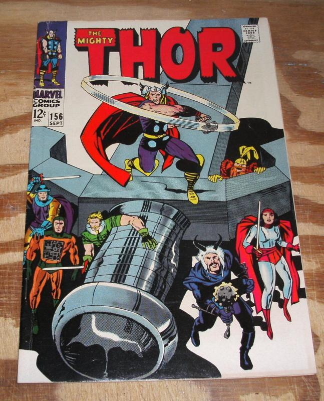 The Mighty Thor #156 vf+ 8.5