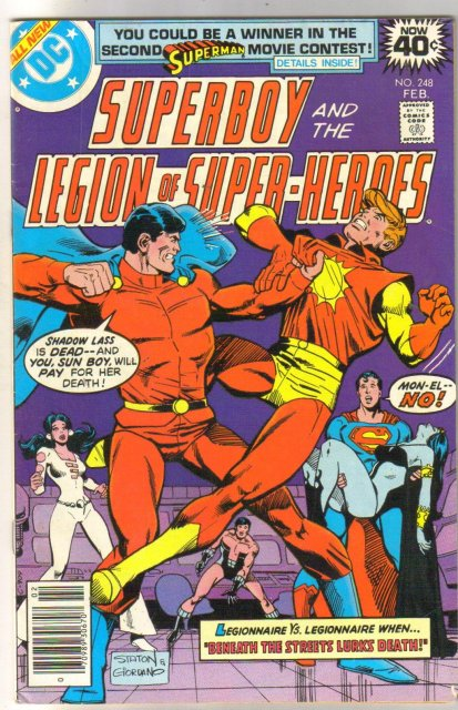 Superboy and the Legion of Super-Heroes  #248 comic book fine 6.0