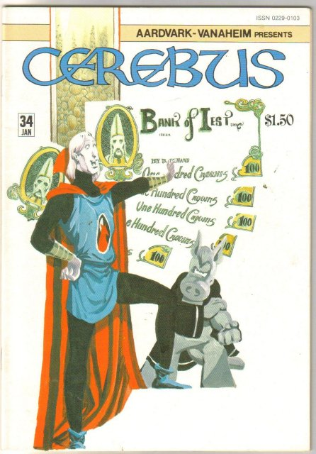 Cerebus #34 comic book near mint 9.4