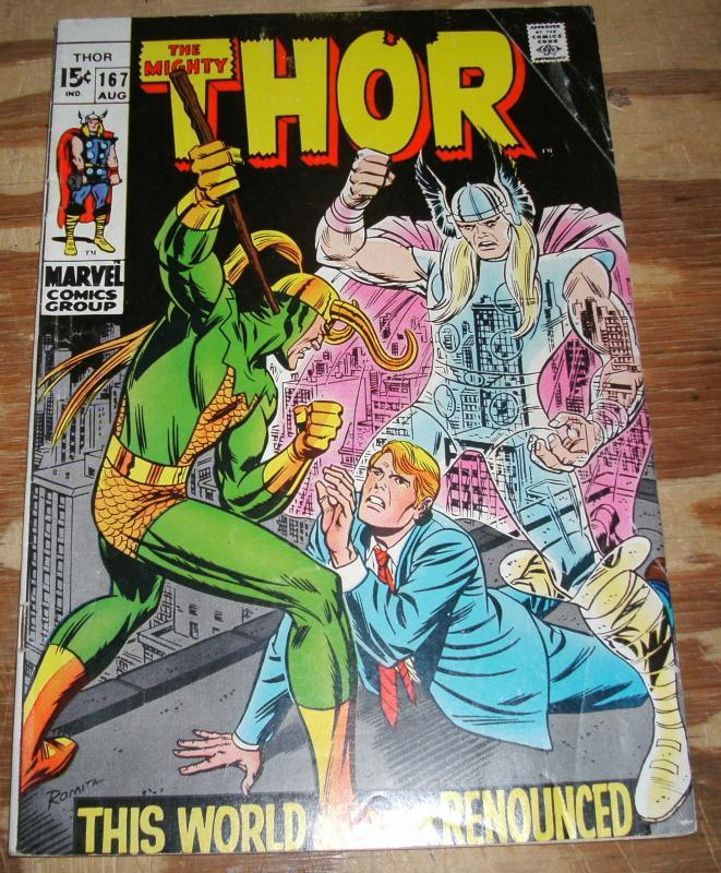 The Mighty Thor #167 very good/fine 5.0