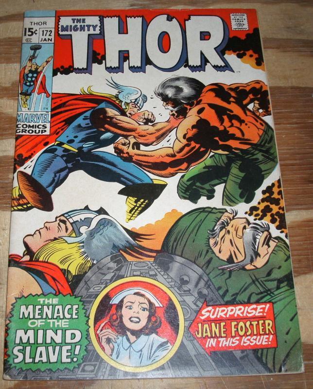 Thor #172 vf- 7.5