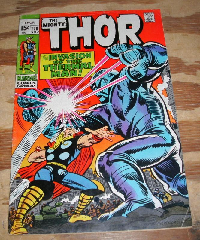 The Mighty Thor #170 fine 6.0