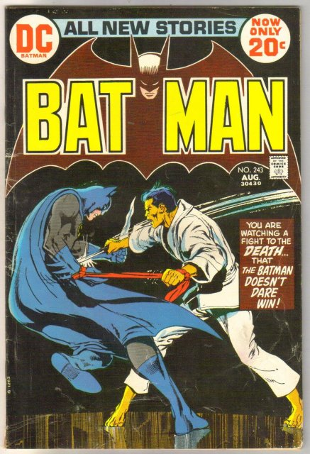Batman #243 comic book very good/fine 5.0