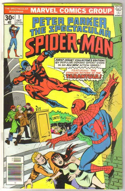 Peter Parker, The Spectacular Spider-Man #1 comic book very fine 8.0
