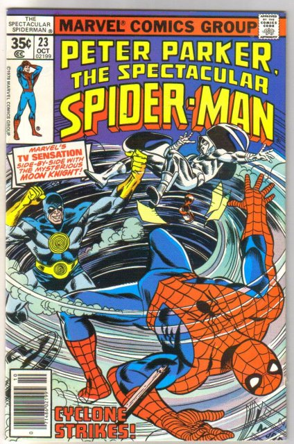 Peter Parker,The Spectacular Spider-man #23 comic book near mint 9.4