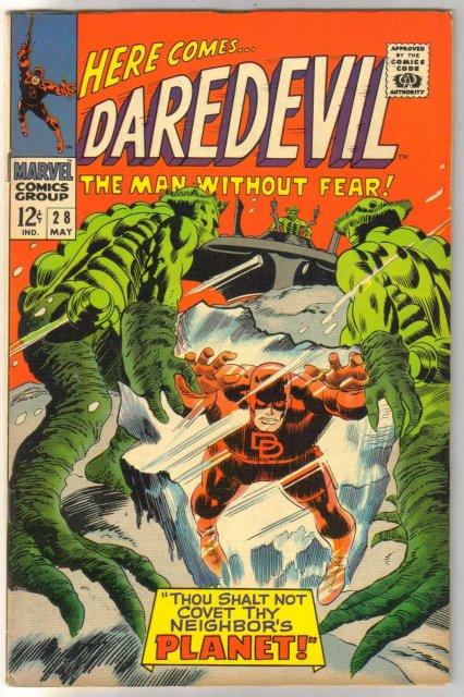 Daredevil #28 comic book very fine/near mint 9.0