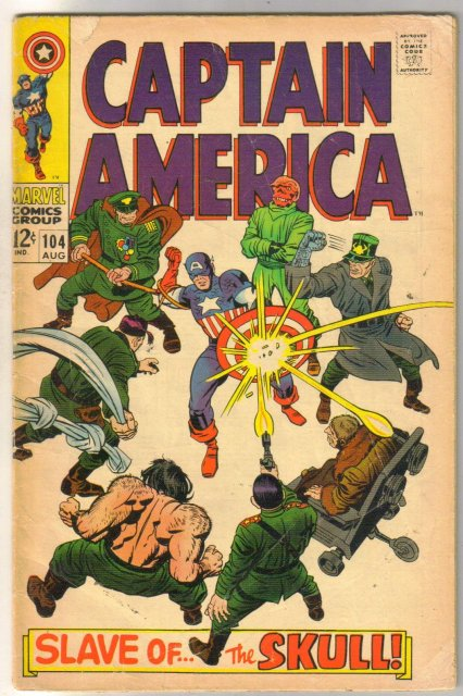 Captain America #104  very good plus 4.5