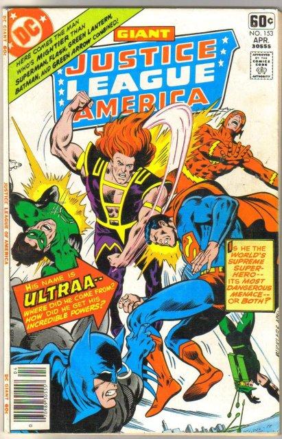 Justice League of America #153  comic book very fine 8.0