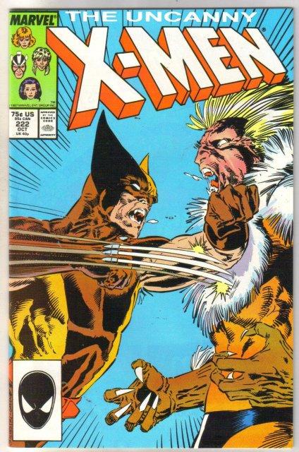 The Uncanny X-Men #222  comic book very fine/near mint 9.0