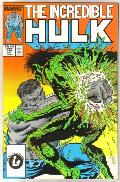 Incredible Hulk #334 comic book near mint 9.4