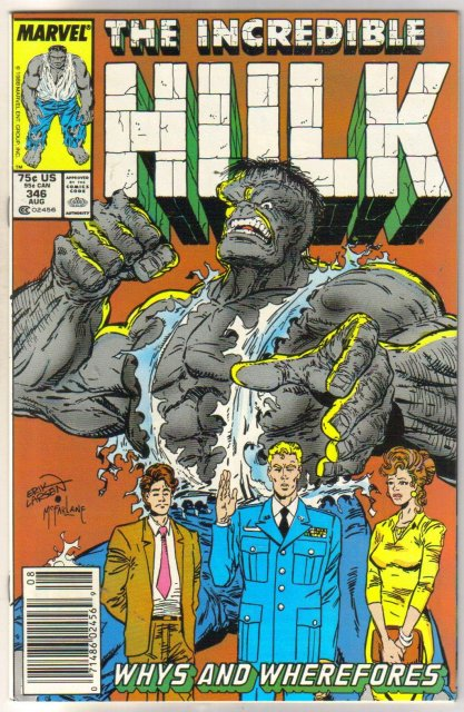 Incredible Hulk #346 comic book near mint 9.4