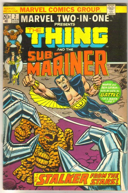 Marvel Two-IN-One #2 presents The Thing and the Sub-Mariner comic book fine/very fine 7.0