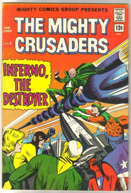 Mighty Comics Group Presents The Mighty Crusaders #2 comic book fine/very fine 7.0