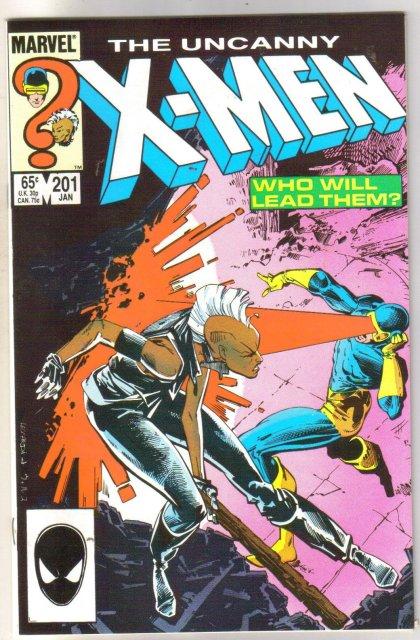 The Uncanny X-men #201  comic book very fine 8.0