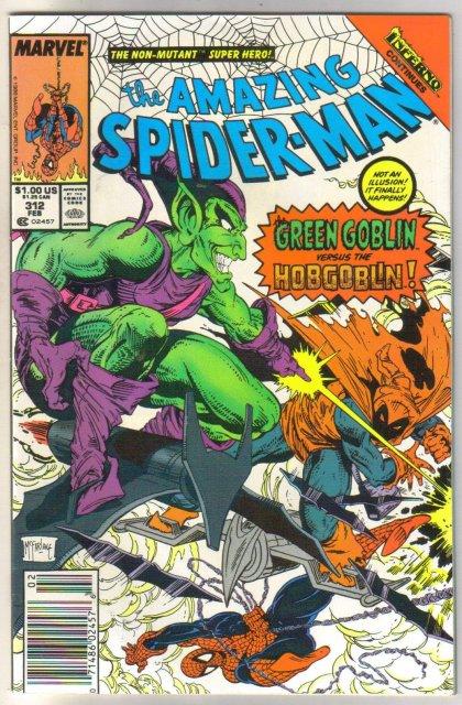 The Amazing Spider-man #312 comic book near mint 9.4
