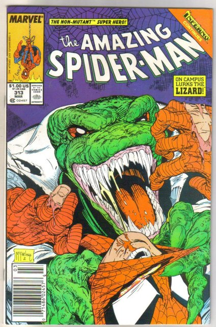 The Amazing Spider-man #313 comic book near mint 9.4