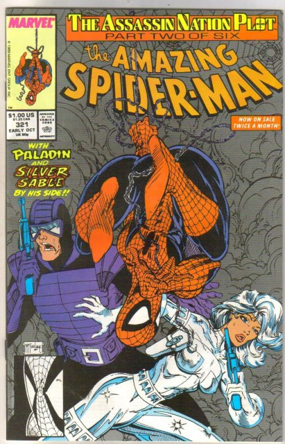 The Amazing Spider-man #321 comic book near mint 9.4