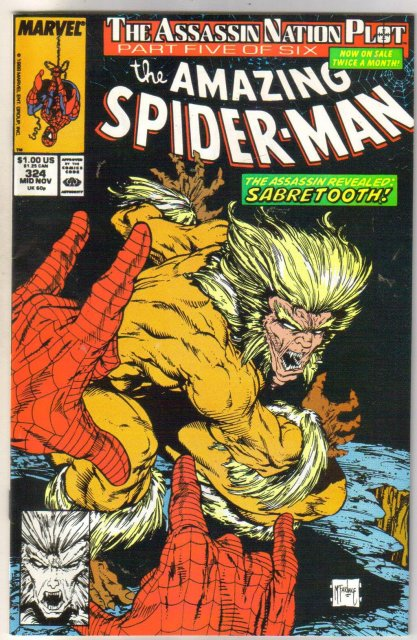 The Amazing Spider-man #324 comic book near mint 9.4