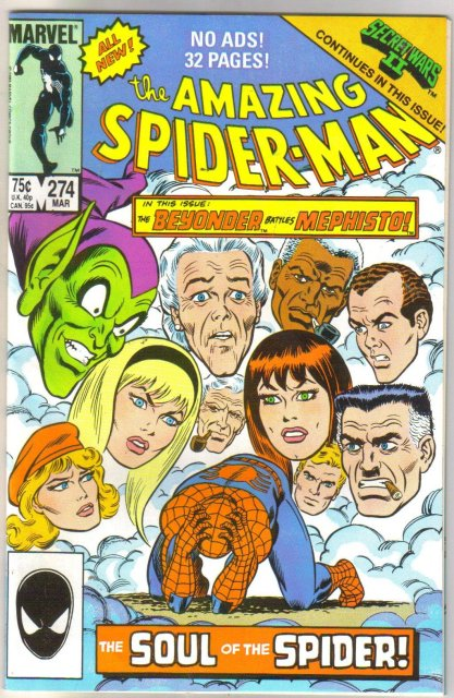 The Amazing Spider-man #274 comic book near mint/mint 9.8