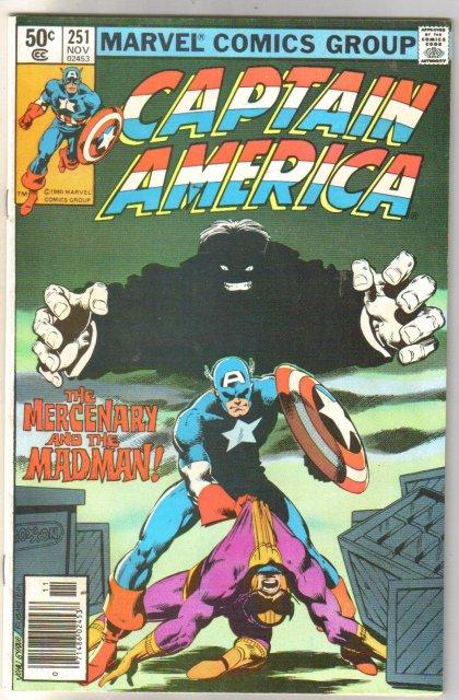 Captain America #251 comic book near mint 9.4