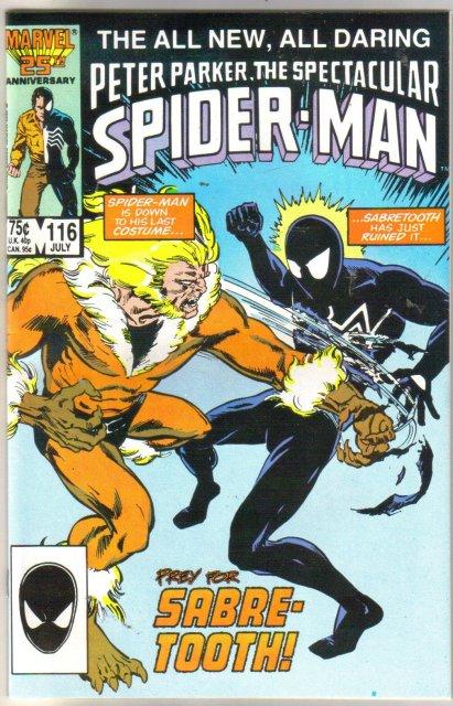 Peter Parker, the Spectacular Soider-man #116 comic book near mint 9.4