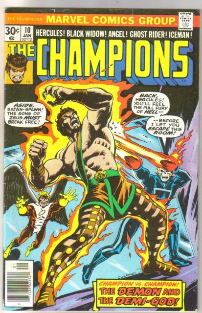 The Champions #10 comic book fine/very fine 7.0