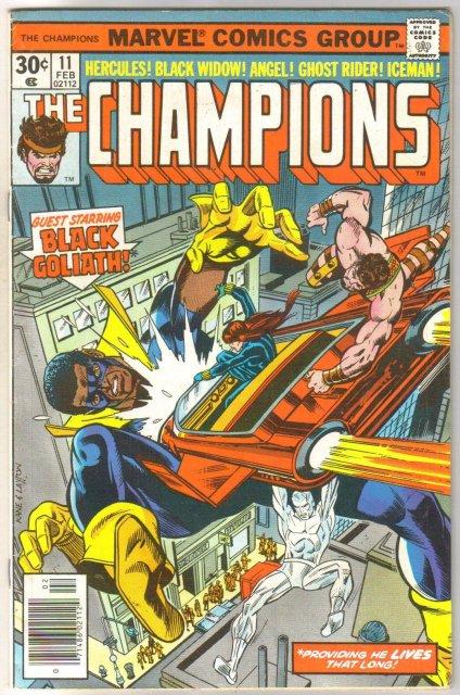 The Champions #11 comic book very fine 8.0