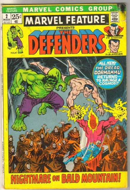 Marvel Feature #2 Defenders comic book very good 4.0