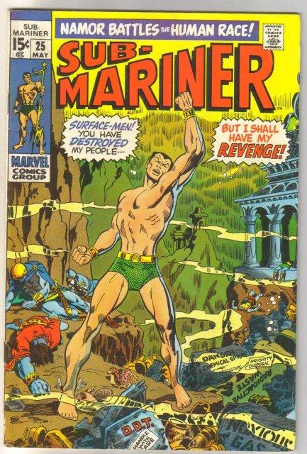 Sub-Mariner #25 comic book fine 6.0