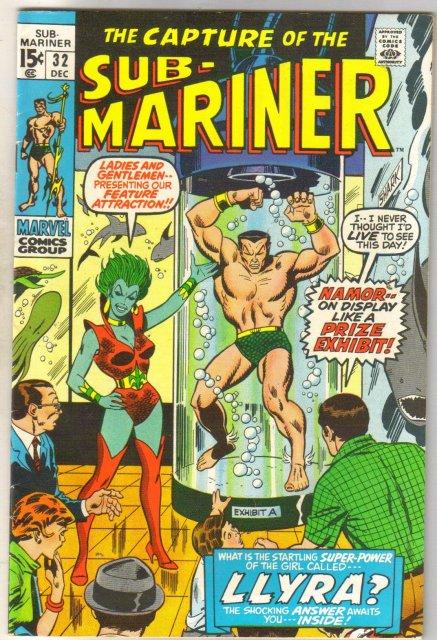 Sub-Mariner #32 comic book fine/very fine 7.0