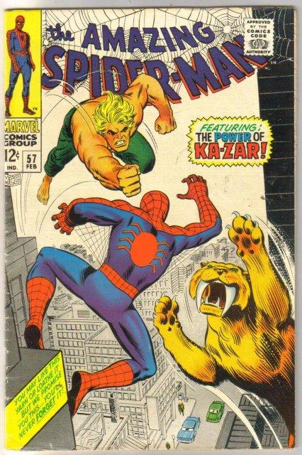 Amazing Spider-man #57 comic book fine 6.0