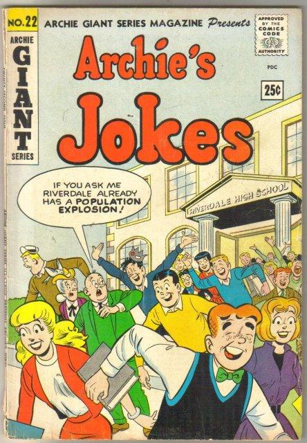 Archie Giant #22 (Jokes) comic book very good 4.0