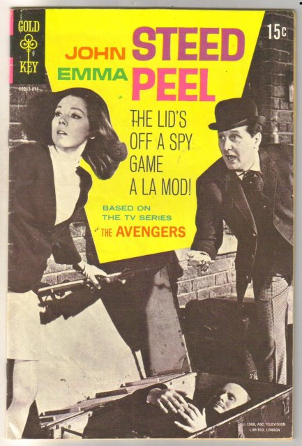 Avengers #1 (TV John Steed Emma Peele) comic book very good 4.0