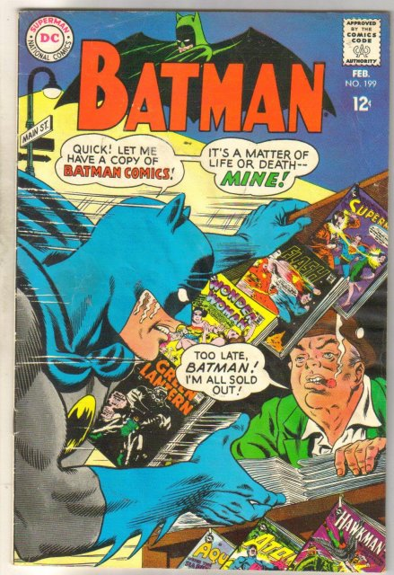 Batman #199 comic book very good 4.0